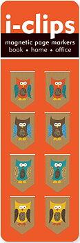 I-clips : Owls - magnetbokmärken