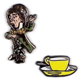 Alice in Wonderland : Mad Hatter and Teacup - Pins
