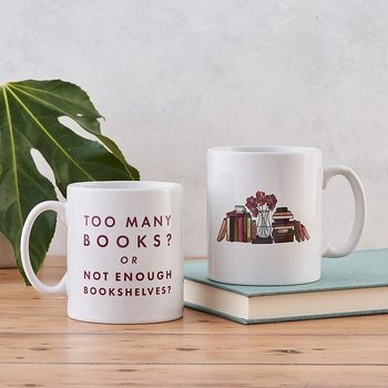 Too many books or not enough bookshelves mug - Mugg 30 cl