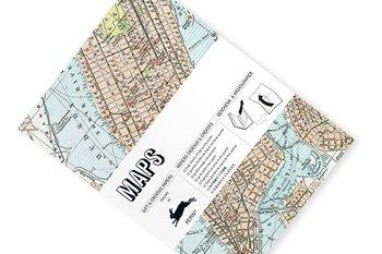 Maps : Gift & Creative Paper Book - Presentpappersbok