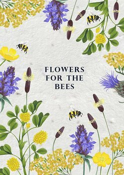 Frökort : Flowers for the bees - kort med kuvert