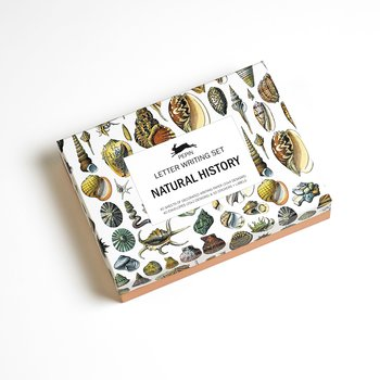 Natural History : Letter Writing Set - Fin presentask med 40 brevpapper med matchande kuvert och stickers