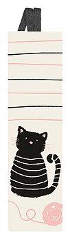 Miau : Bokmärke med resårband