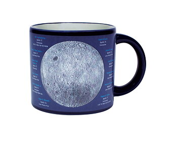 Near side of the MOON Mug - interaktiv mugg som ändrar motiv med temperaturen på drycken
