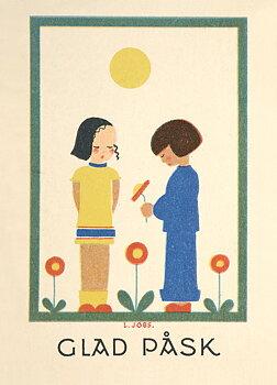Lisbet Jobs : Påskvänner - vykort
