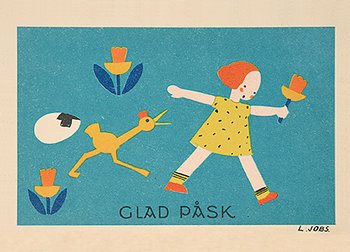 Lisbet Jobs : Påskkyckling - vykort