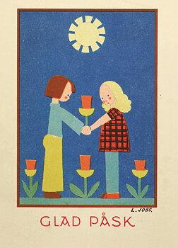 Lisbet Jobs : Påsktulpaner - vykort