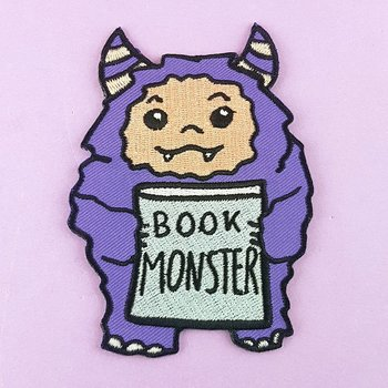 Book Monster : Embroidered Patch
