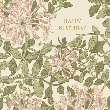 William Morris : Happy Birthday Rosa - Kort med kuvert