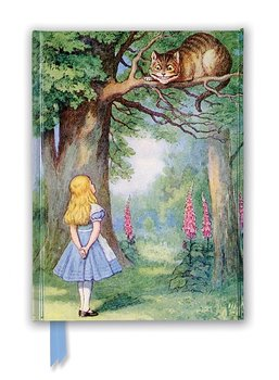 John Tenniel : Alice and the Cheshire Cat - Skrivbok med magnetlås linjerad A5
