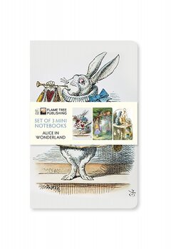 John Tenniel : Alice in Wonderland Mini notebook Collection - Set med tre skrivböcker Mini