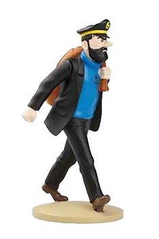 Tintin :  Statyett 12 cm - Kapten Haddock med säck