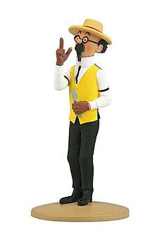 Tintin :  Statyett 12 cm - Professor Kalkyl trädgårdsmästare