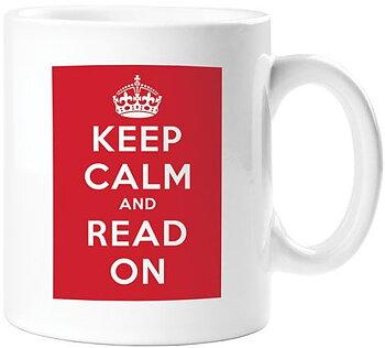 Keep calm and read on Mug - Mugg med bästa receptet för att behålla lugnet!