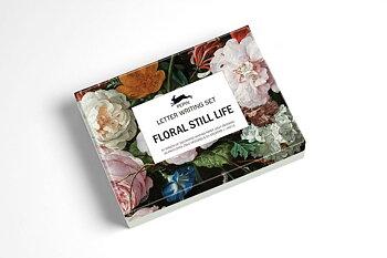 Floral Still Life : Letter Writing Set - Fin presentask med 40 brevpapper med matchande kuvert och stickers