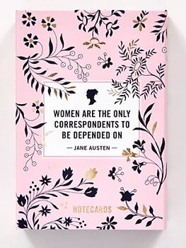 Jane Austen : Women are the only correspondents to be depended on - Note - Kortask med 20 kort och kuvert