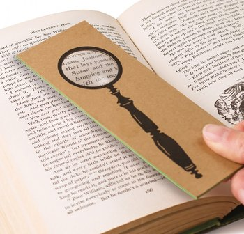 The Really Useful Magnifying Bookmark : Spyglass - Bokmärke förstoringsglas