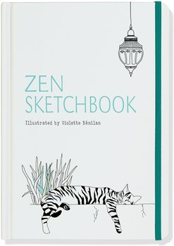 Zen : Sketchbook - Skrivbok/Skissbok med linjerade illustrerade sidor och resårband - A6+