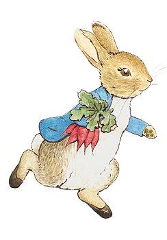 Beatrix Potter : Pelle kanin med morötter - Minikort med kuvert