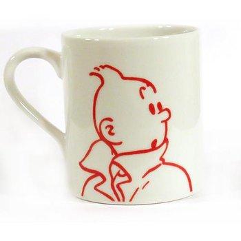 Tintin : Mugg med Tintin i rött