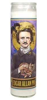 Secular Saints Candle : Edgar Allan Poe - Doftljus i glas med bild av Edgar Allan Poe