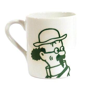 Tintin : Mugg med Professor Kalkyl i grönt