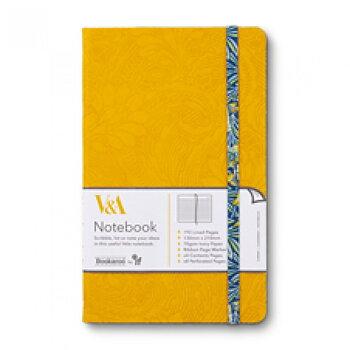 V&A Bookaroo : Morris - Skrivbok linjerad med resårband A5