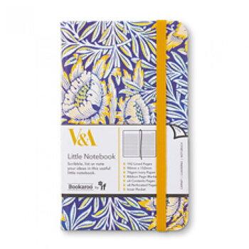 V&A Bookaroo : Morris - Skrivbok linjerad med resårband A6