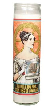 Secular Saints Candle : Ada Lovelace - Doftljus i glas med bild av Ada Lovelace