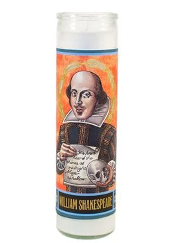 Secular Saints Candle : William Shakespeare - Doftljus i glas med bild av William Shakespeare