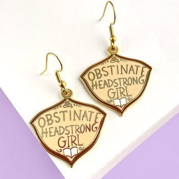 Obstinate Headstrong Girl : Enamel earrings - örhängen i emalj med krokar i rostfritt stål