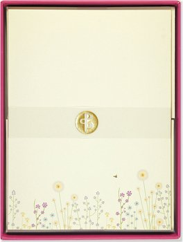 Sparkly Garden : Boxed Stationery Set - Ask med 30 brevpapper och 24 kuvert