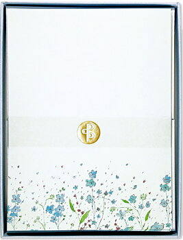 Blue Flowers : Boxed Stationery Set - Ask med 30 brevpapper och 24 kuvert