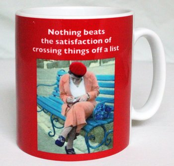 Photocaptions : Nothing beats the satisfaction of crossing things off a list - Mugg
