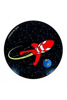 Tintin :  Kylskåpsmagnet - Rymdraketen