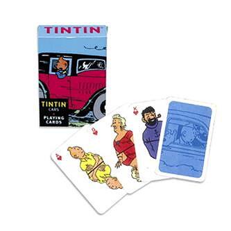 Tintin :  Spelkort - Bilar