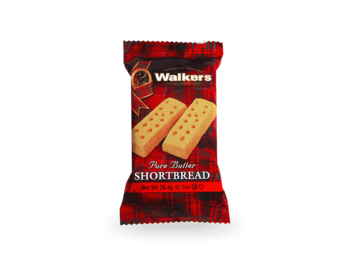 Walkers : Pure Butter Shortbread 40 g - Portionsförpackning med 2 kakor