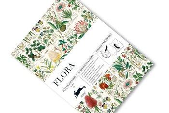 Flora : Gift & Creative Paper Book - Presentpappersbok
