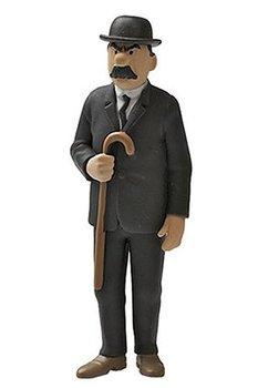Tintin :  Plastfigur - Dupont med käpp