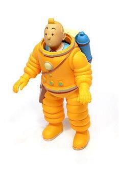 Tintin :  Plastfigur - Tintin astronaut