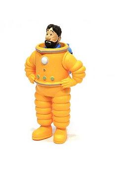 Tintin :  Plastfigur - Kapten Haddock astronaut