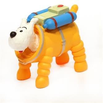 Tintin :  Plastfigur - Milou astronaut