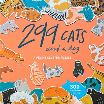Pussel 300 bitar : 299 Cats (and a dog) - kul klusterpussel med kattformade bitar!
