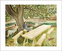 Eric Ravilious : Two Women 1933 - Kort med kuvert
