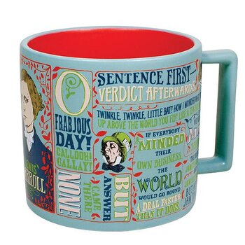 Lewis Carroll : Literary Quotes Mug - mugg 40 cl