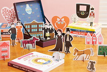 Jane Austen : Pride and prejudice playset - box med bok och figurer