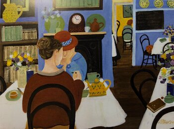 Dee Nickerson : The Tea Room - Kort med kuvert