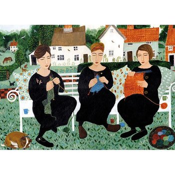 Dee Nickerson : Village Knitters - Kort med kuvert