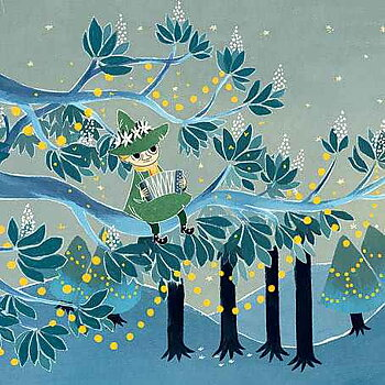 Mumin : Fullmånefest - Snusmumriken - Kort med kuvert