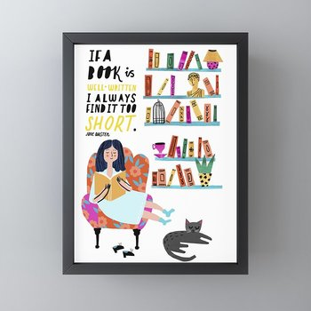 Sophie Beer :  Jane Austen Framed Mini Art Print - Inramat handtryck